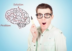 Brain Businessman With Creative Idea Illustration